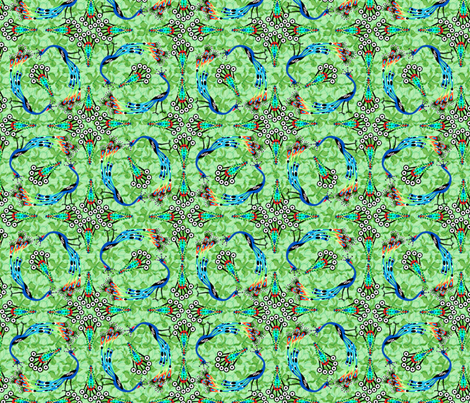 Parade of Peacocks - Rainbow fabric by glimmericks on Spoonflower - custom fabric