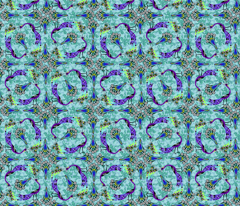 Parade of Peacocks - full size fabric by glimmericks on Spoonflower - custom fabric