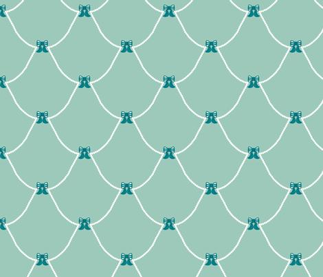 Chic Birdie Bows Blue fabric by modgeek on Spoonflower - custom fabric