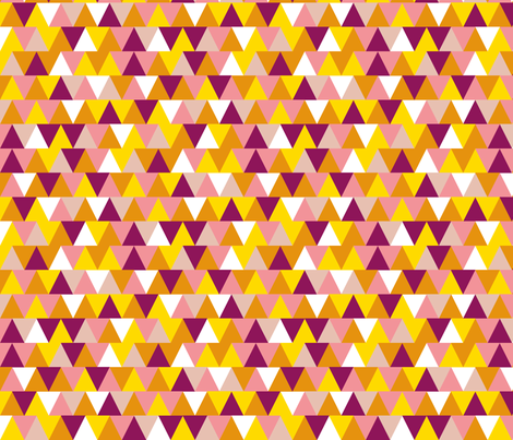 Non-Pareil Triangles || chevron arrows stripes geometric abstract bubblegum candy fabric by pennycandy on Spoonflower - custom fabric