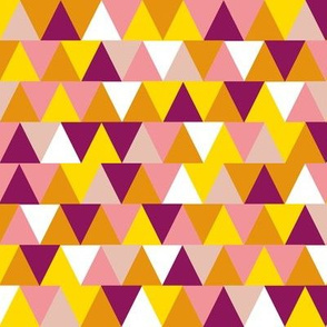 Non-Pareil Triangles || chevron arrows stripes geometric abstract bubblegum candy