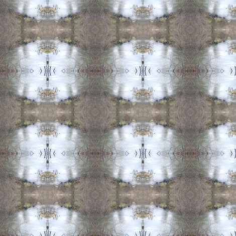 mirrored winter fabric by maga2mars on Spoonflower - custom fabric