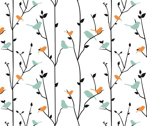 SpringBirds fabric by jbhorsewriter7 on Spoonflower - custom fabric