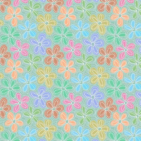 dotty floral  fabric by vo_aka_virginiao on Spoonflower - custom fabric