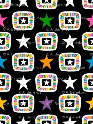 Candy Stars on Black