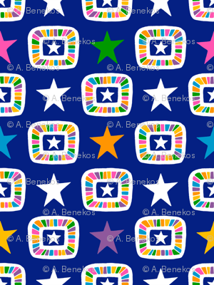 Candy Stars on Indigo