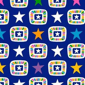 Candy Stars on Indigo