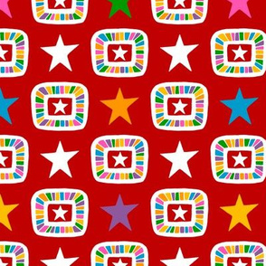 Candy Stars on Red