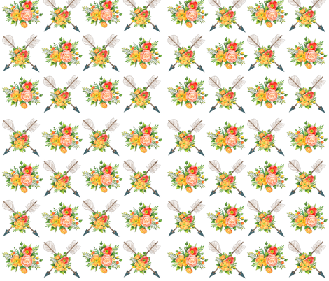 Vintage Tribal Arrow fabric by icarpediem on Spoonflower - custom fabric