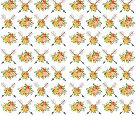 Vintage Tribal Arrow fabric by icarpediem on Spoonflower - custom fabric