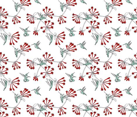 A_Charm_of_Hummingbirds fabric by walkathon on Spoonflower - custom fabric