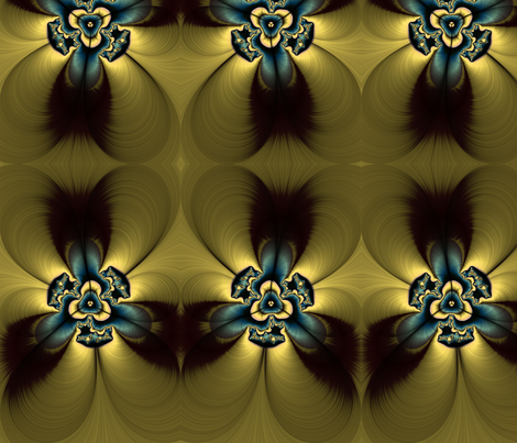 golden feather flower fabric by cleigh_designs on Spoonflower - custom fabric