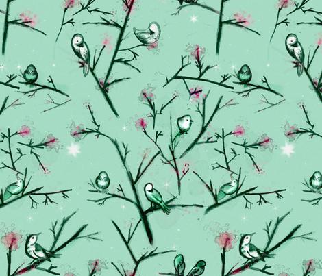 Who Is My Nightingale? fabric by bellenoel on Spoonflower - custom fabric