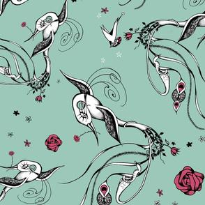 Pitcher Birds - limited palette