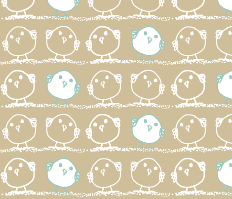 blue bird fabric by wiccked on Spoonflower - custom fabric