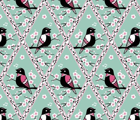 Songbirds fabric by siya on Spoonflower - custom fabric