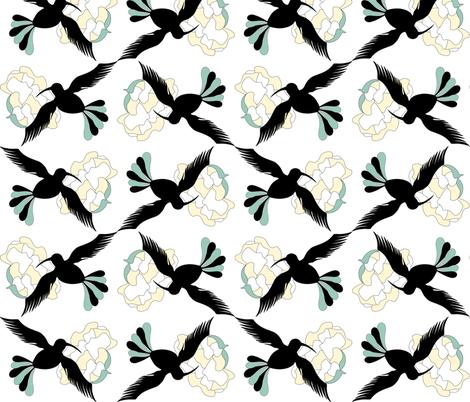 Fantasy birds fabric by borianakostova on Spoonflower - custom fabric