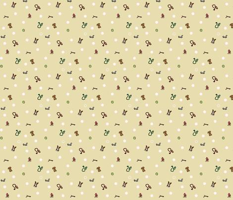 Dog park Ditsy print fabric by rusticcorgi on Spoonflower - custom fabric