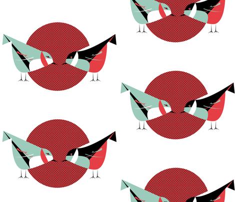 birds fabric by nook_design_studio on Spoonflower - custom fabric