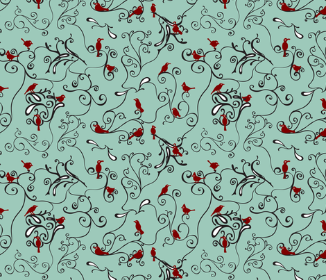 Perched fabric by resdesigns on Spoonflower - custom fabric