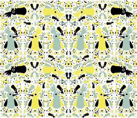 Birds fabric by littleturtle on Spoonflower - custom fabric