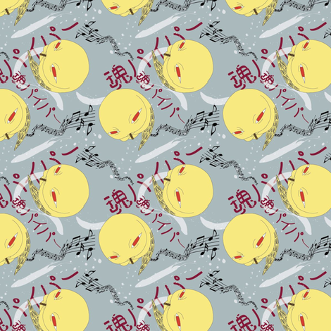 soul_piper_2 fabric by kanamithedreamer on Spoonflower - custom fabric