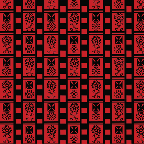 red_andinkra fabric by kanamithedreamer on Spoonflower - custom fabric