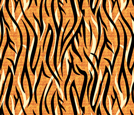 Bengalesque El Tigre fabric by glimmericks on Spoonflower - custom fabric