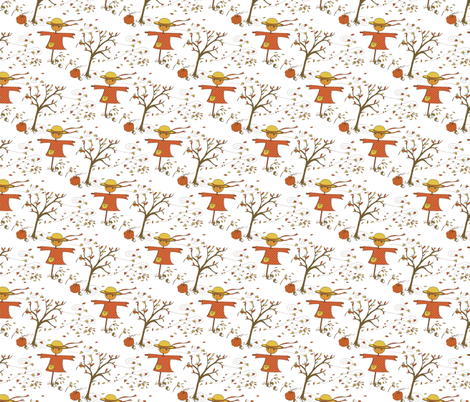breezy autumn fabric by littlerhodydesign on Spoonflower - custom fabric