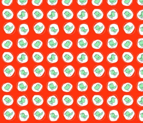 Polkabirds fabric by pieke_wieke on Spoonflower - custom fabric