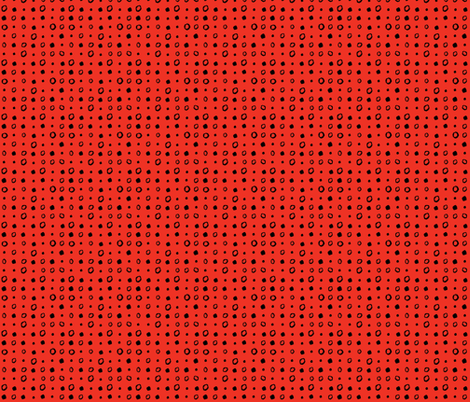 red_and_black_dots fabric by gsonge on Spoonflower - custom fabric