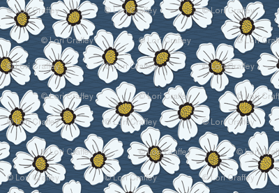 retro blossom denim