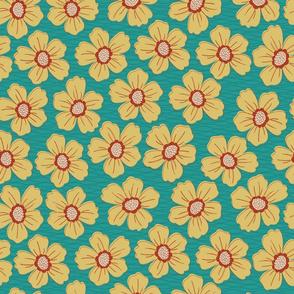 retro blossom teal