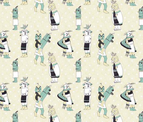 Kachina Birds fabric by krikany on Spoonflower - custom fabric