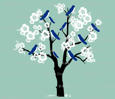 Bluebirds and Blossoms