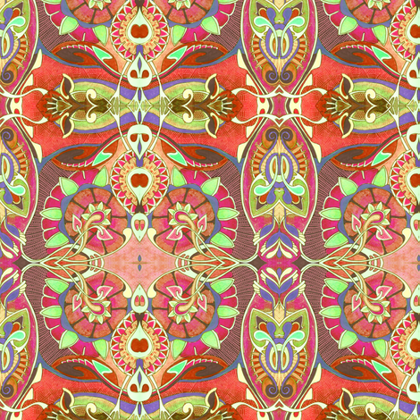 Spring on an alien planet fabric edsel2084 spoonflower for Alien fabric
