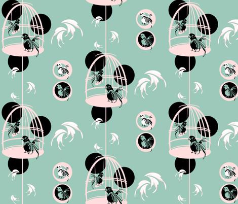 BirdiePattern fabric by danielapuliti on Spoonflower - custom fabric