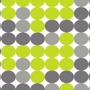 Dot Dot in Greys and Greens