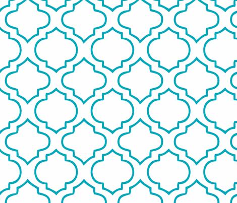 Moorish Tile - Peacock fabric by honey&fitz on Spoonflower - custom fabric