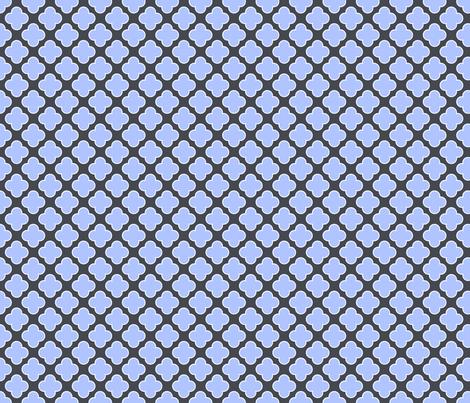 Clovers Blue fabric by natitys on Spoonflower - custom fabric