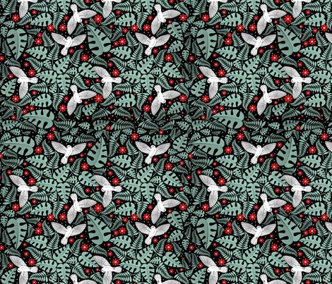 birdsandberries fabric by suziwollman on Spoonflower - custom fabric