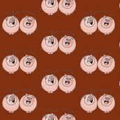 Cartoon pigs laughing and burping