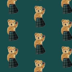 Teddy Bear wearing a kilt