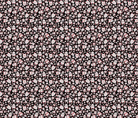Ditzy Kitsune fabric by garmonsway_designs on Spoonflower - custom fabric