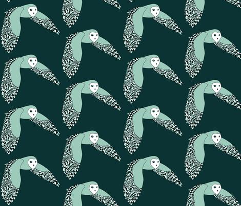 Barnie the Barn Owl loves Geometrics fabric by nerida_jeannie on Spoonflower - custom fabric