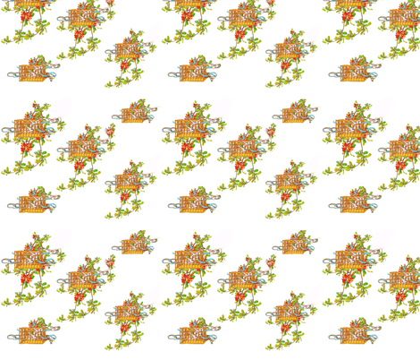 Spring Branches and Doves  fabric by karenharveycox on Spoonflower - custom fabric