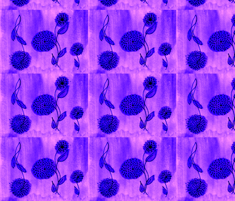 flowers on the wing-lilac fabric by mimi&me on Spoonflower - custom fabric