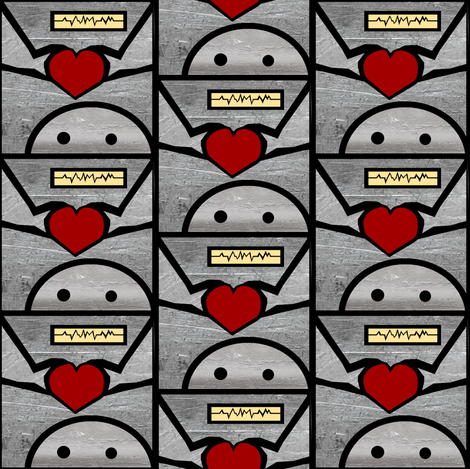 Robot_Love fabric by pond_ripple on Spoonflower - custom fabric