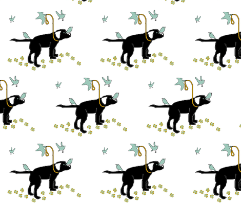 A_Walk_with_Birds_v3 fabric by describe_happy on Spoonflower - custom fabric