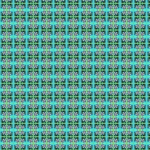 Tropical Kaleidoscope Plaid in Teal